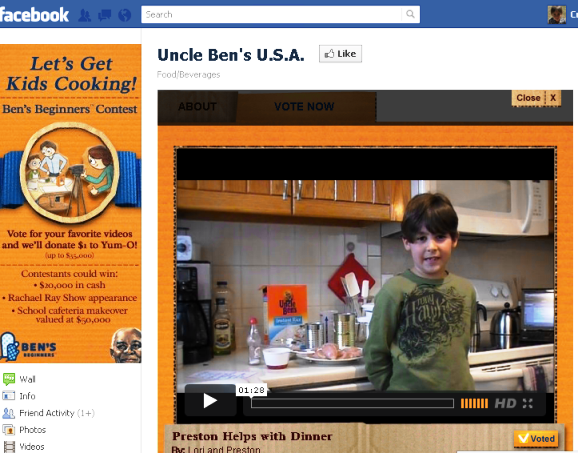 Uncle Ben's Rice Cooking Contest
